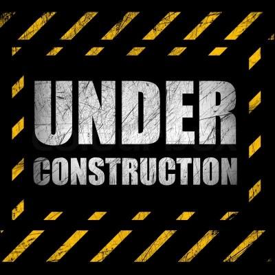 Under construction background | Stock Photo | Colourbox