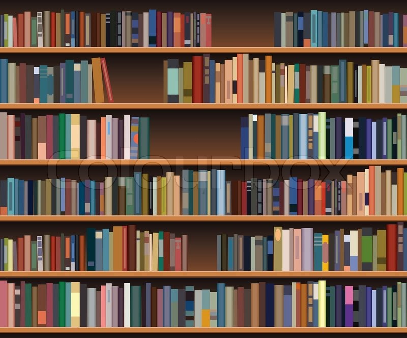 Vector Bookshelf Stock Vector Colourbox