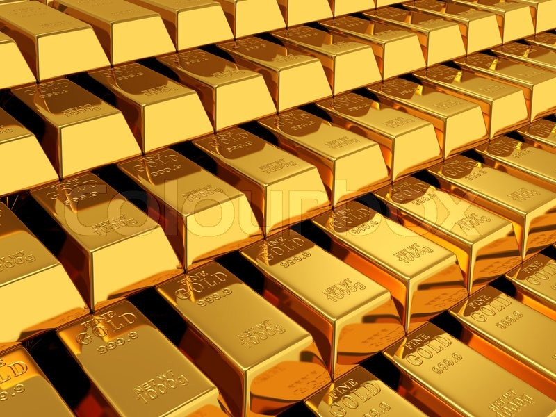 3d Brick Wallpaper Philippines Gold Bars Stock Photo Colourbox