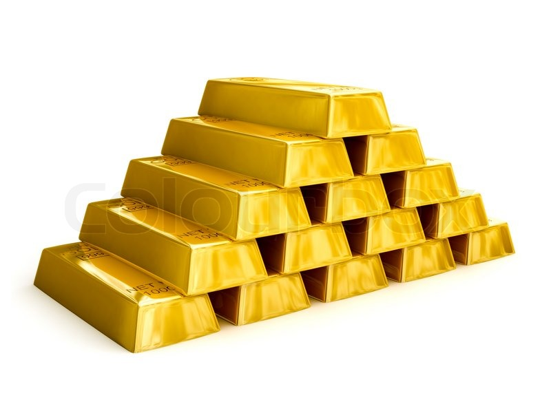 Free 3d Pile Of Bricks Wallpaper Gold Bars Pyramid Stock Photo Colourbox