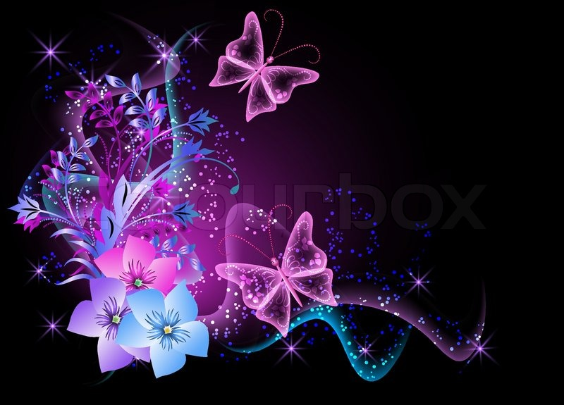 Hd Wallpapers Butterflies Widescreen Background With Flowers Smoke And Butterfly Stock