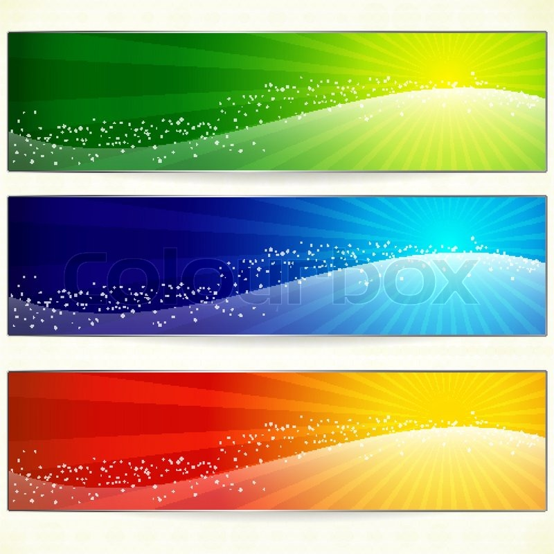 Abstract trendy colorful banners for your design header Stock