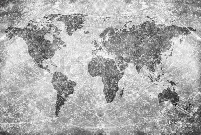 Agedvintage world map texture and background Stock Photo Colourbox - Black And Grey World Map