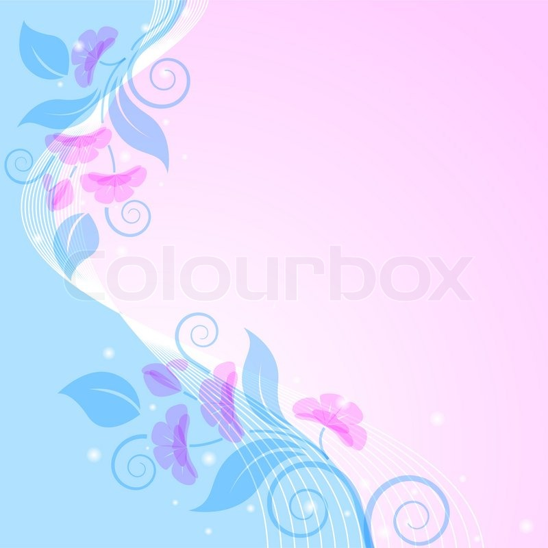 Abstract floral background Pink and blue Styling Stock Vector