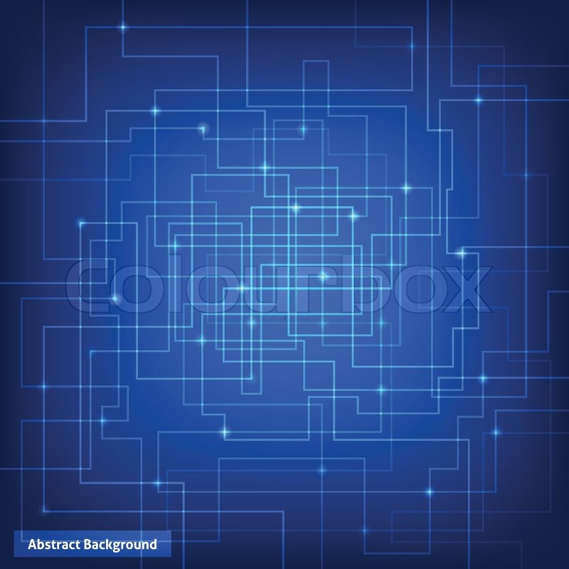 Electric Blue Wallpaper Hd Virtual Circuit Technology Background Stock Vector