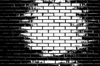 Black and white brick wall | Stock Photo | Colourbox