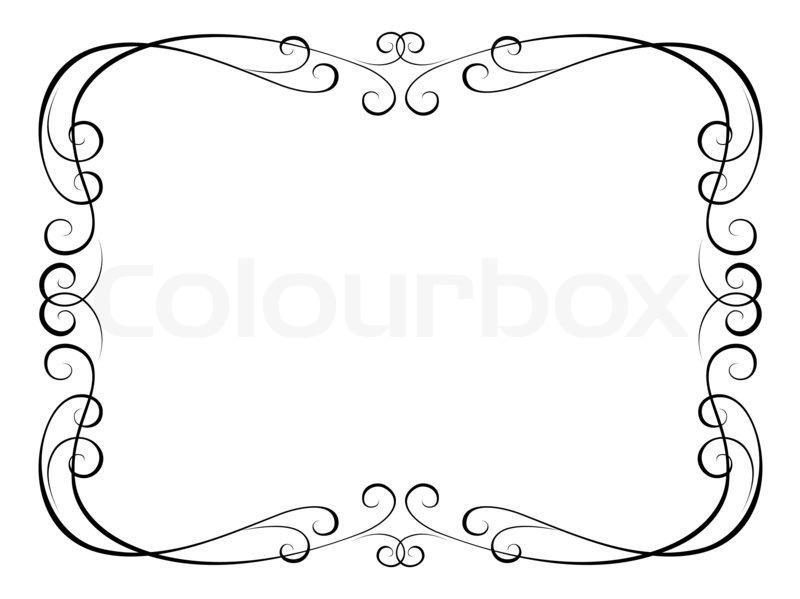 Calligraphy ornamental decorative frame Stock Photo Colourbox
