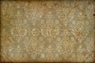 Old vintage wallpaper grunge background | Stock Photo | Colourbox