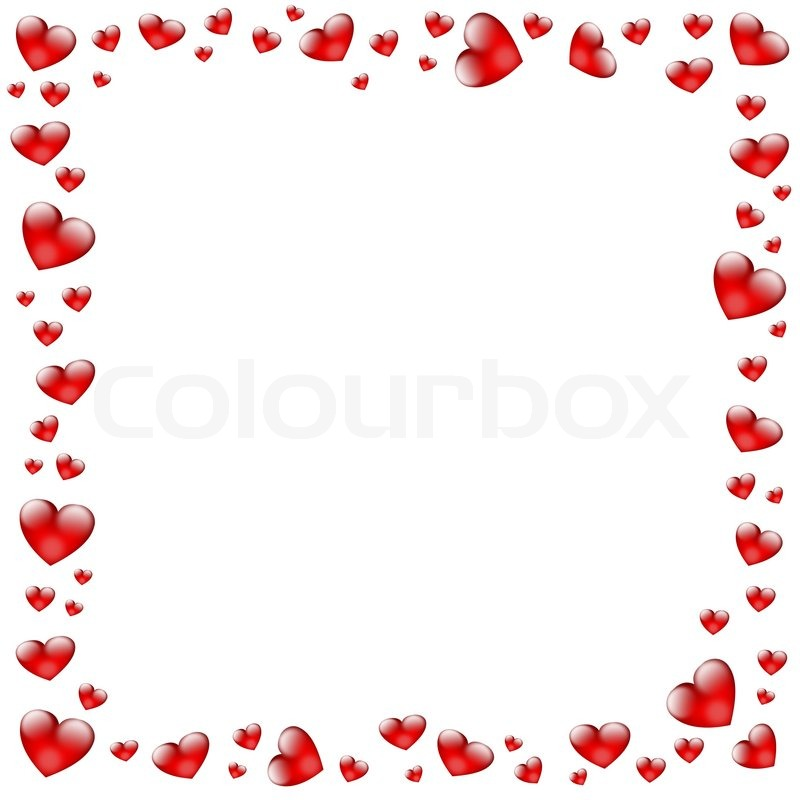 Hearts Frame Stock Image Colourbox - Heart Frames For Photos
