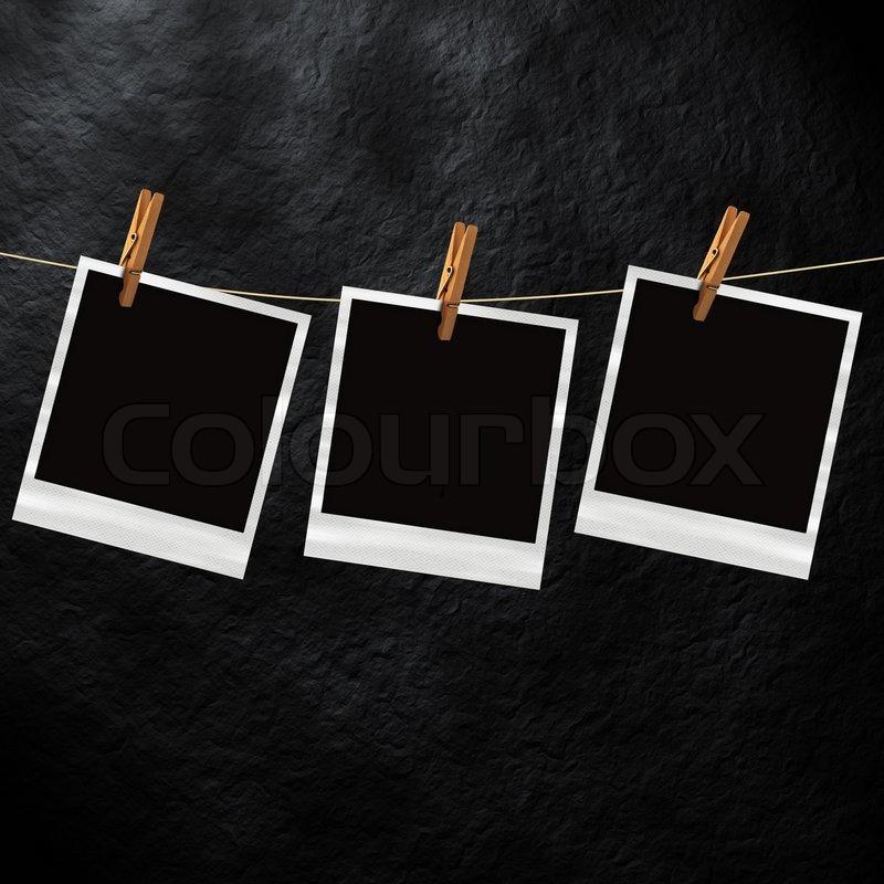 Old polaroid photo template Stock Photo Colourbox