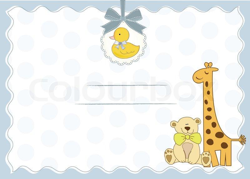Baby shower invitation Stock Vector Colourbox