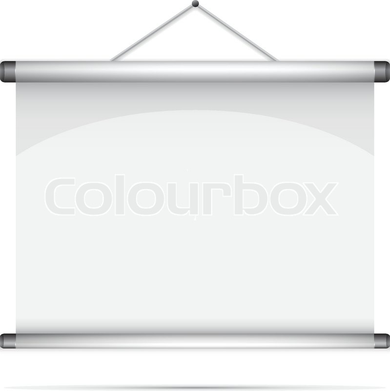 Blank roll-up poster Stock Vector Colourbox