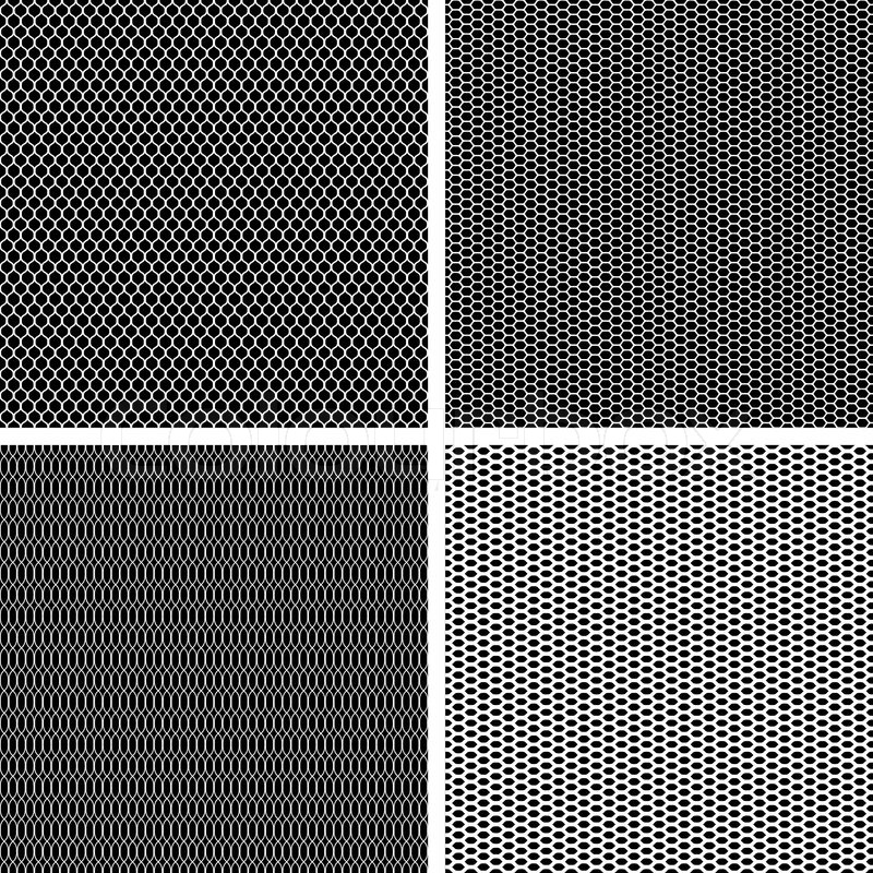 Black Metallic Wallpaper Old Lace Background Set Of 4 Seamless Pattern Vector