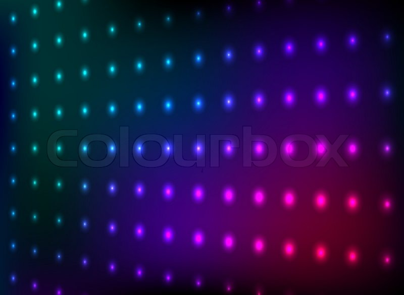 Glitter 3d Wallpaper Abstract Colorful Club Lights Wall Stock Vector