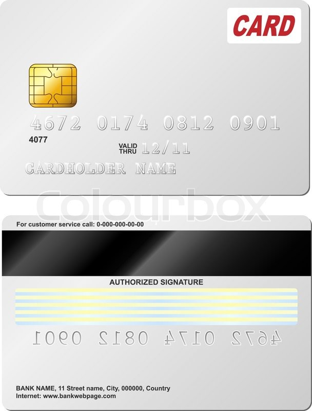 Blank credit card vector template Stock Vector Colourbox