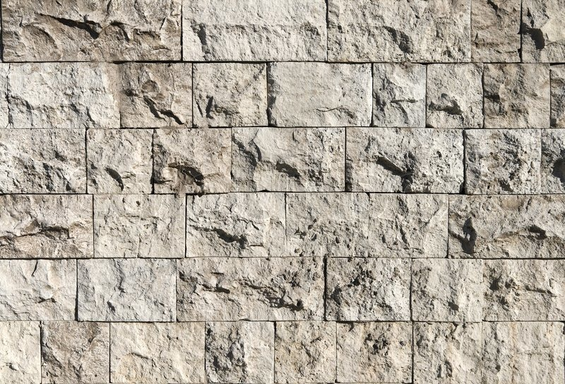 Texture Of A Rough Stone Wall Made With Blocks Stock