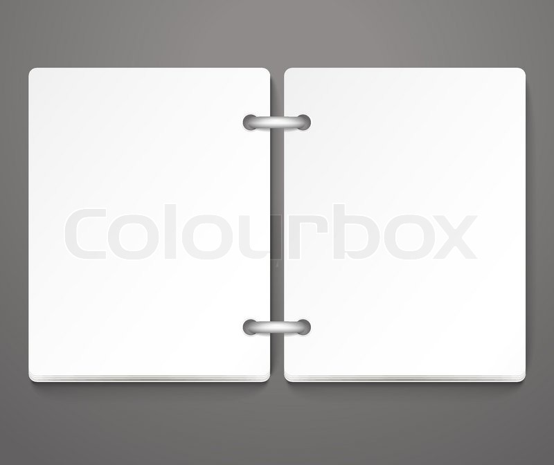 Opened empty paper diary Template for a text Stock Vector Colourbox - diary paper template