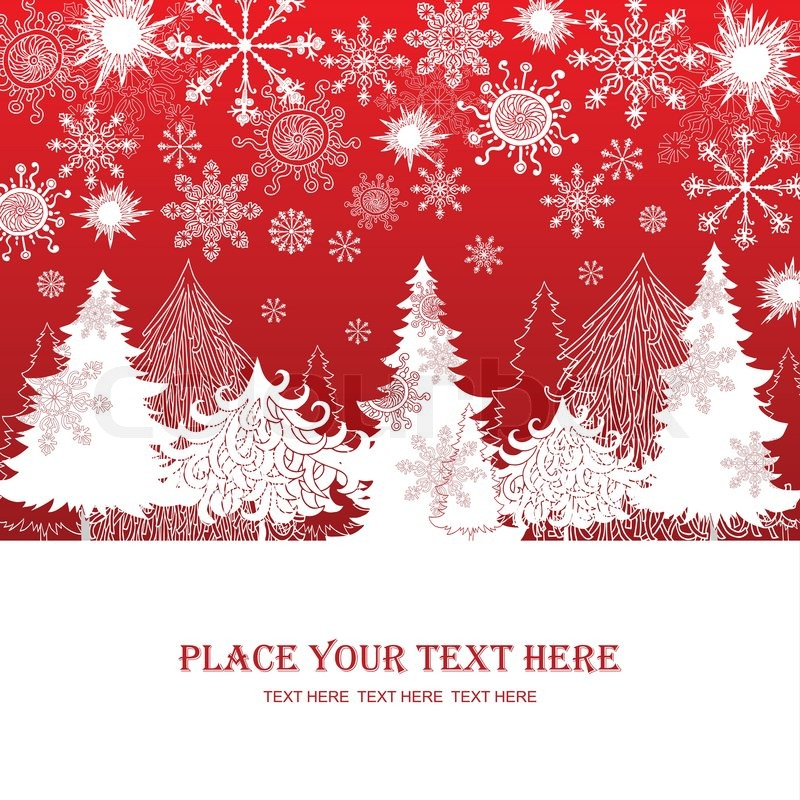 Christmas and New Year red background, Stock Vector Colourbox