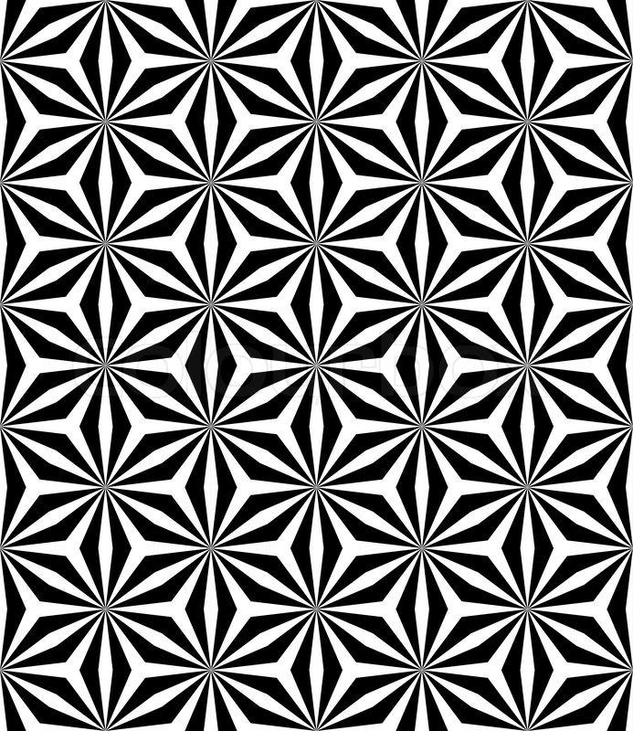 Op art seamless geometric pattern Stock Vector Colourbox