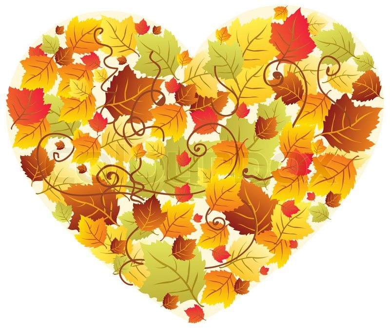 Free Animated Falling Leaves Wallpaper Autumn Leaves In The Heart Frame Stock Photo Colourbox