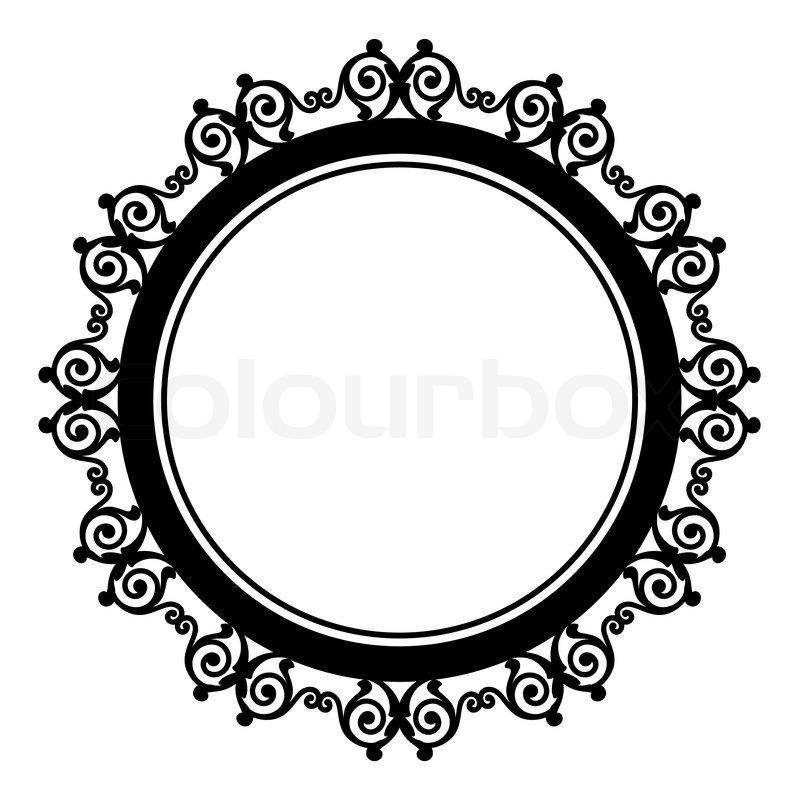 Circle baroque border with Stock Vector Colourbox