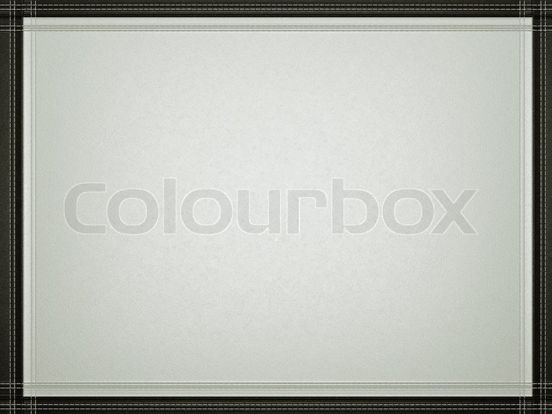 Gray leather background with stitched black border frame Stock - black border background
