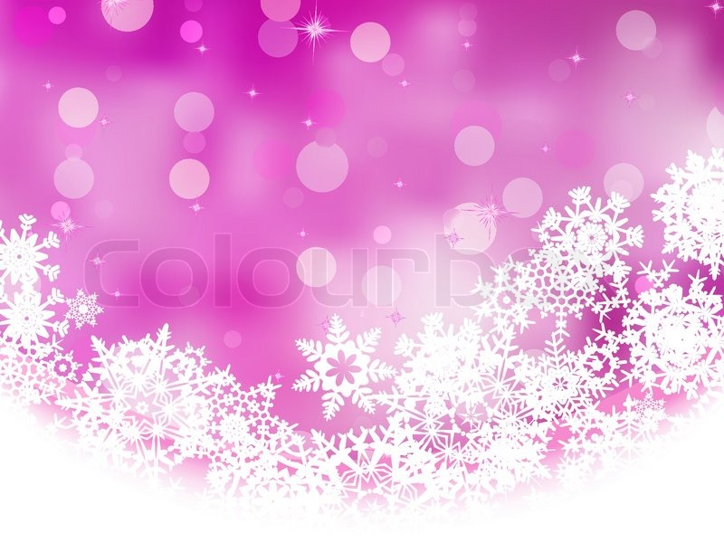 Free Animated Falling Snow Wallpaper Pink Background With Snowflakes Eps 8 Stock Vector