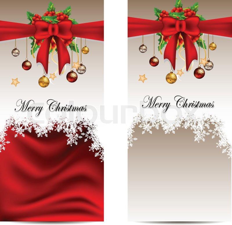 Beauty christmas card background Stock Vector Colourbox - free xmas card template