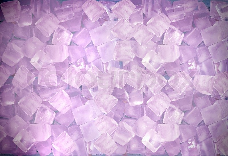 Abstract Purple Ice Cube Background For A Hot Summer