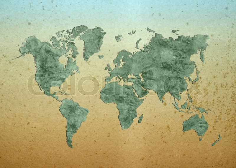 World Map, World background on grunge Stock Photo Colourbox