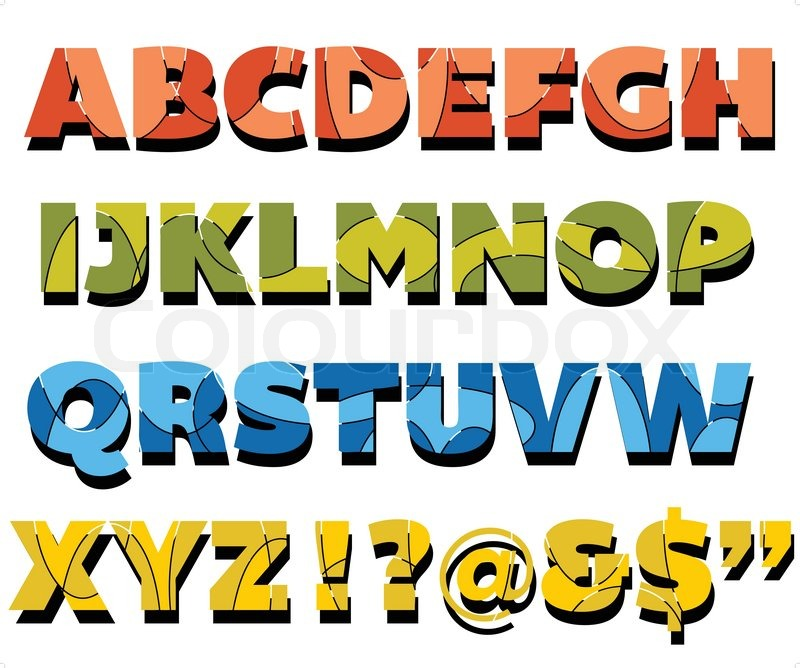 Abstract design fully editable capital letters alphabet Stock
