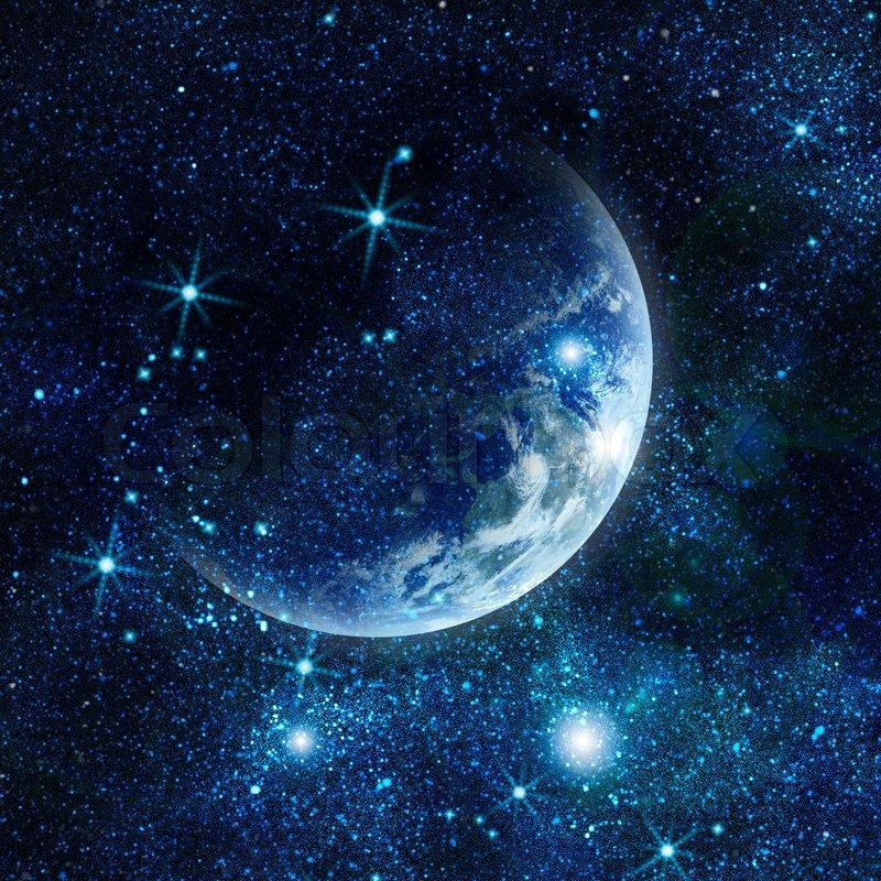 Om 3d Wallpaper Hd Realistisk Planet Jorden I Rummet Stock Foto Colourbox