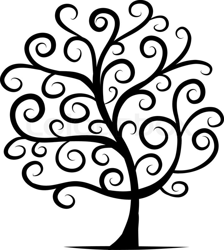 Abstract tree for your design Stock Vector Colourbox