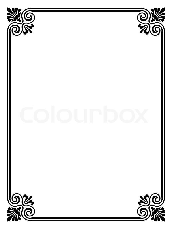 Vector simple black calligraph ornamental decorative frame pattern - word design frames