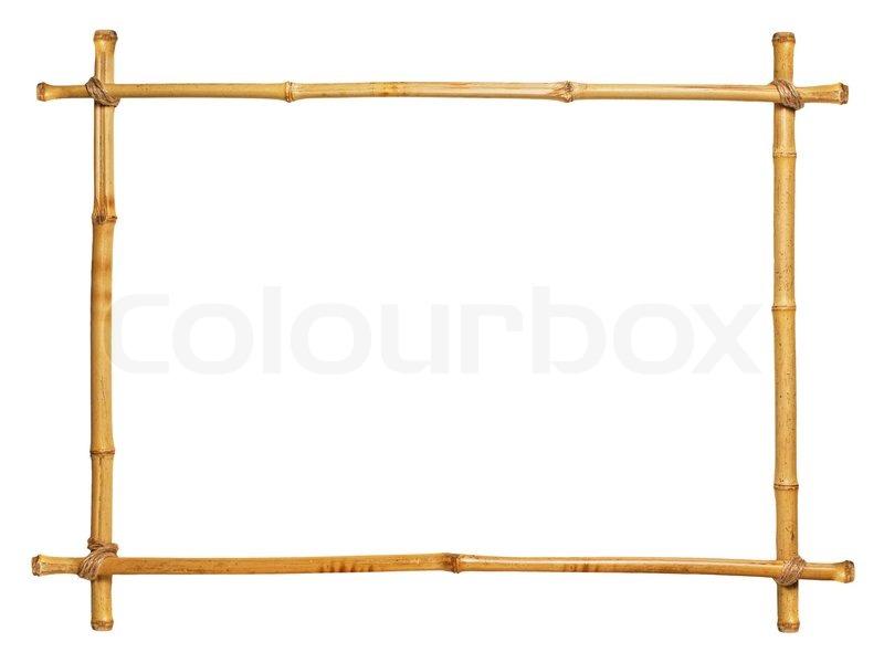 Bambus Rahmen Isoliert Auf Weissem Stockfoto Colourbox