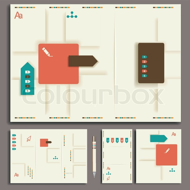 Layout, business, set, design, leaflet, folder, card, icon, abstract