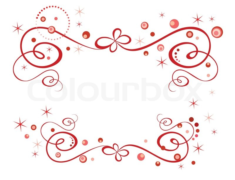 Red holiday border Stock Vector Colourbox
