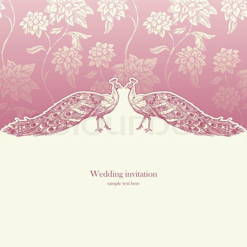 Vintage wedding invitation card, Stock Vector Colourbox