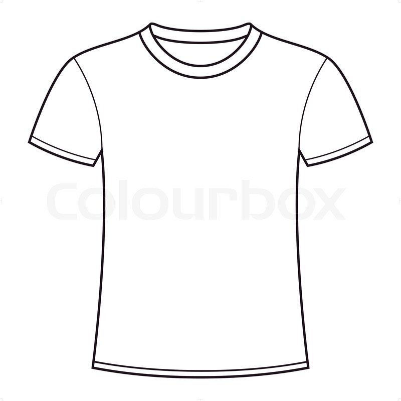 Blank white t-shirt template Stock Vector Colourbox - t shirt template