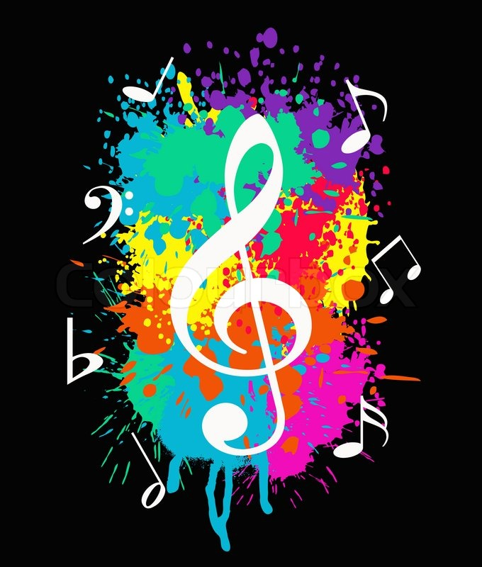 Cute Wallpaper Galaxy Note Wallpaper With Music Symbols On Colorful Background