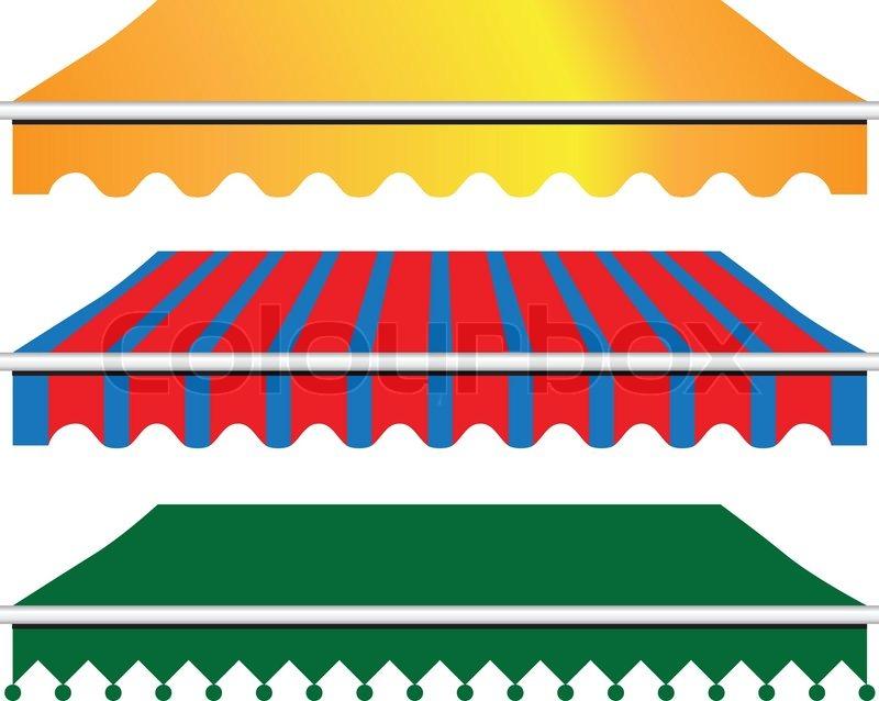 Sun Shade Awning Stock Vector Colourbox