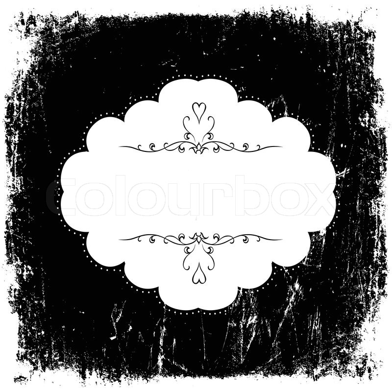 Vintage grunge black and white card Stock Vector Colourbox
