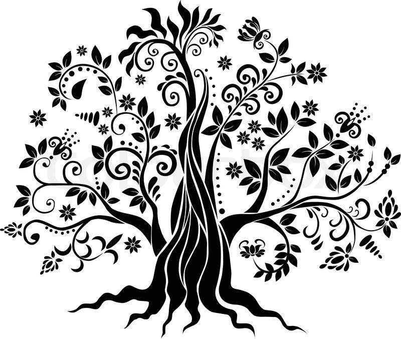 Free Fall Foliage Wallpaper Design Tree Stock Vector Colourbox