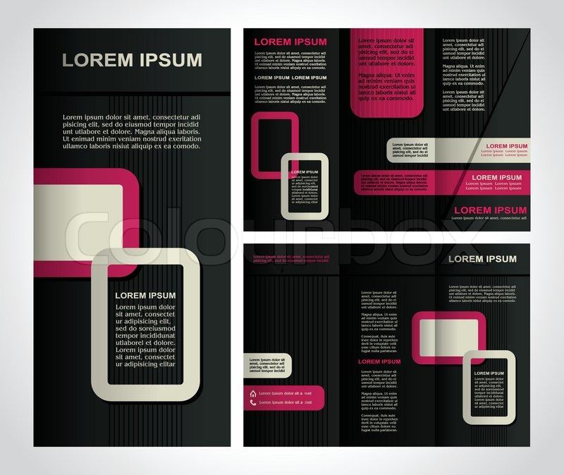 Modern style brochure template design with new design creative - black flyer template