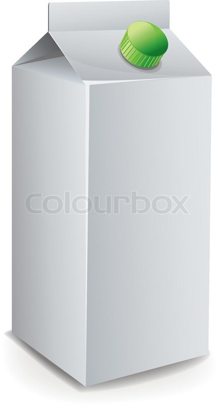 Milk Carton Template vector Stock Vector Colourbox - Milk Carton Template