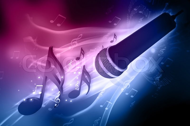 3d Amazing Art Wallpapers Musical Background Stock Photo Colourbox