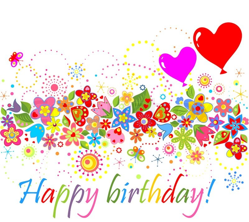 Tillykke med fødselsdagen ! stock foto Colourbox