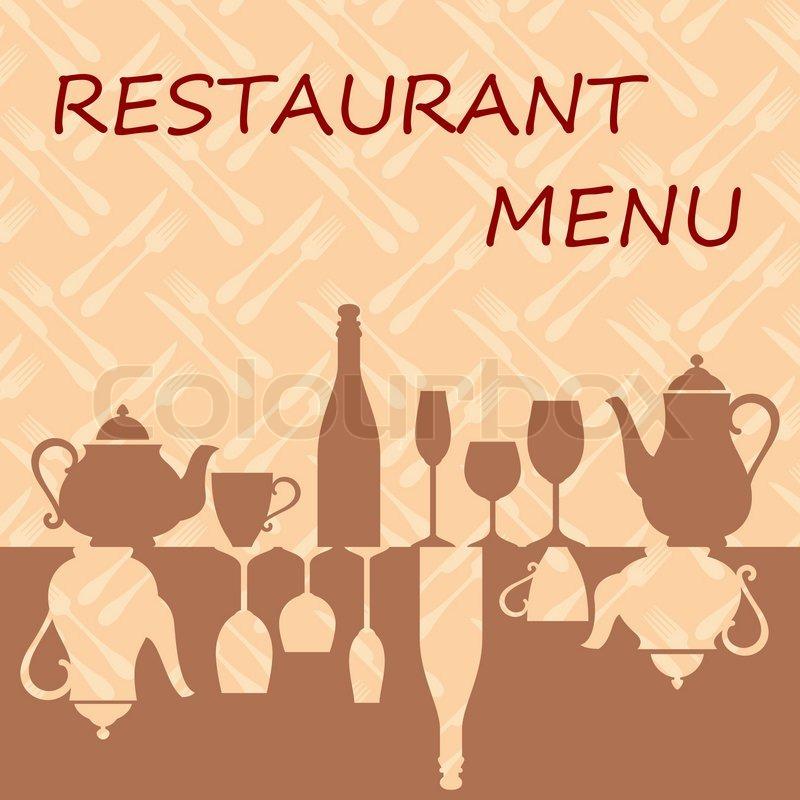 Restaurant menu background Stock Vector Colourbox
