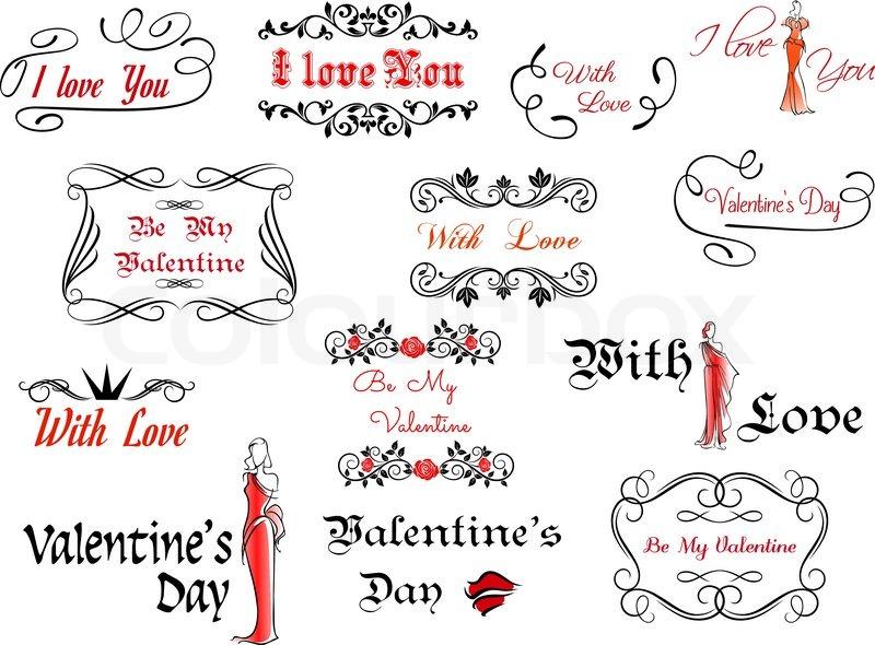 Vintage black borders for Valentine\u0027s day Stock Vector Colourbox - 's day borders