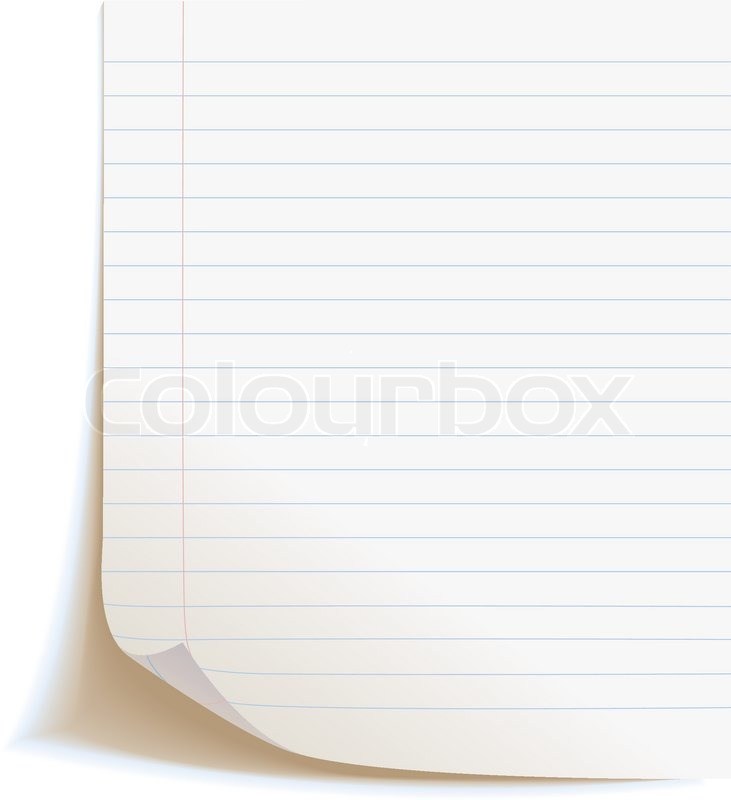 Blank worksheet exercise book Isolated on white background Stock - blank diary page